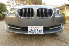 2012 BMW 535i (6) NO DRILL FRONT LICENSE PLATE BRACKET