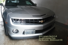 2013 camaro 2ss 6.2 v8 NO DRILL FRONT LICENSE PLATE BRACKET