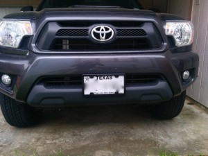 toyota no drill license plates