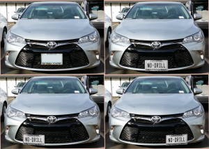 toyota camry no drill license plate