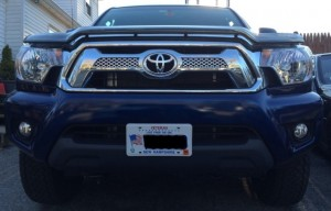 toyota license plate no drill